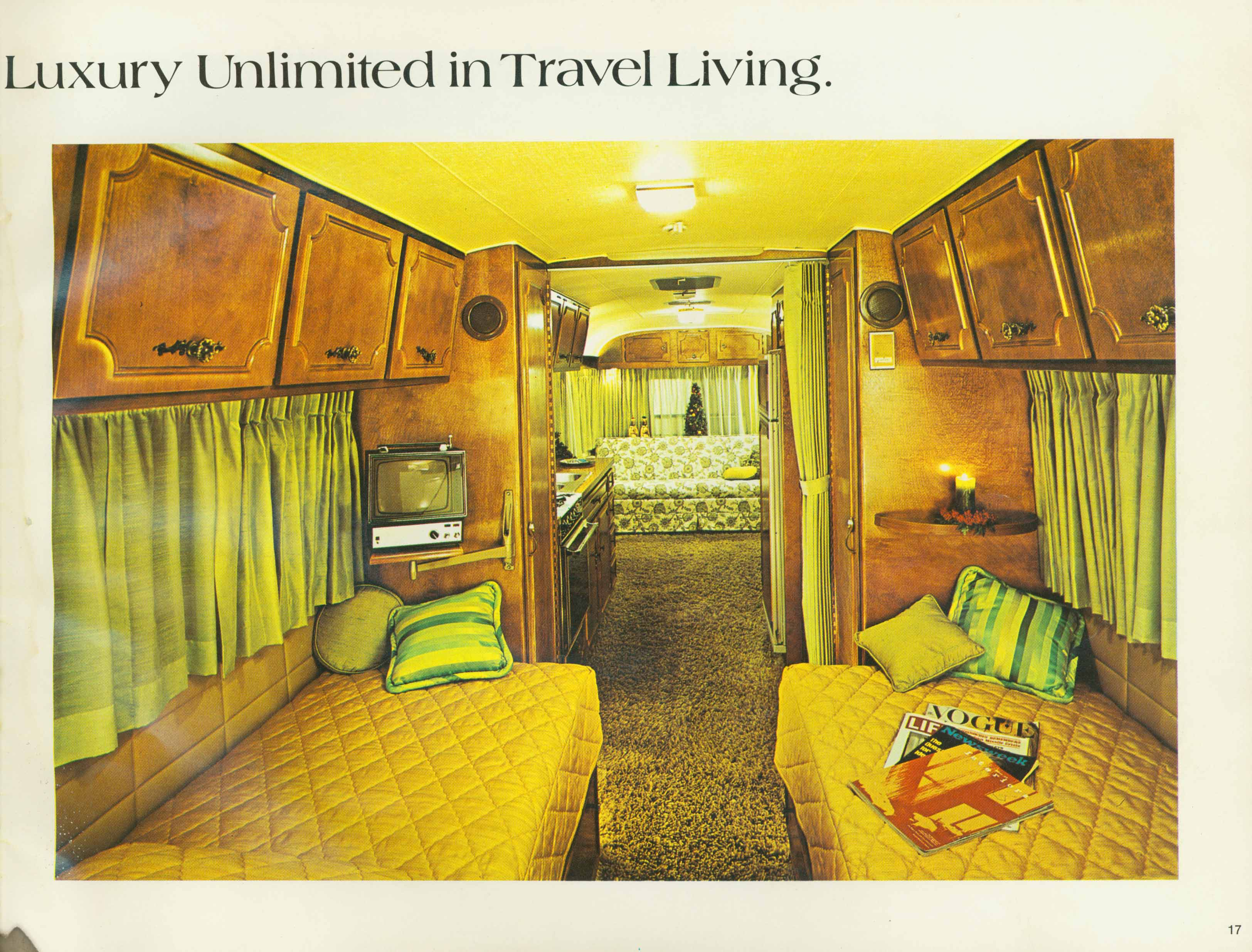 1972_AVION_17 what are these wires for? interior of '72 safari 23ft Fleetwood Fifth Wheel Floor Plans at alyssarenee.co